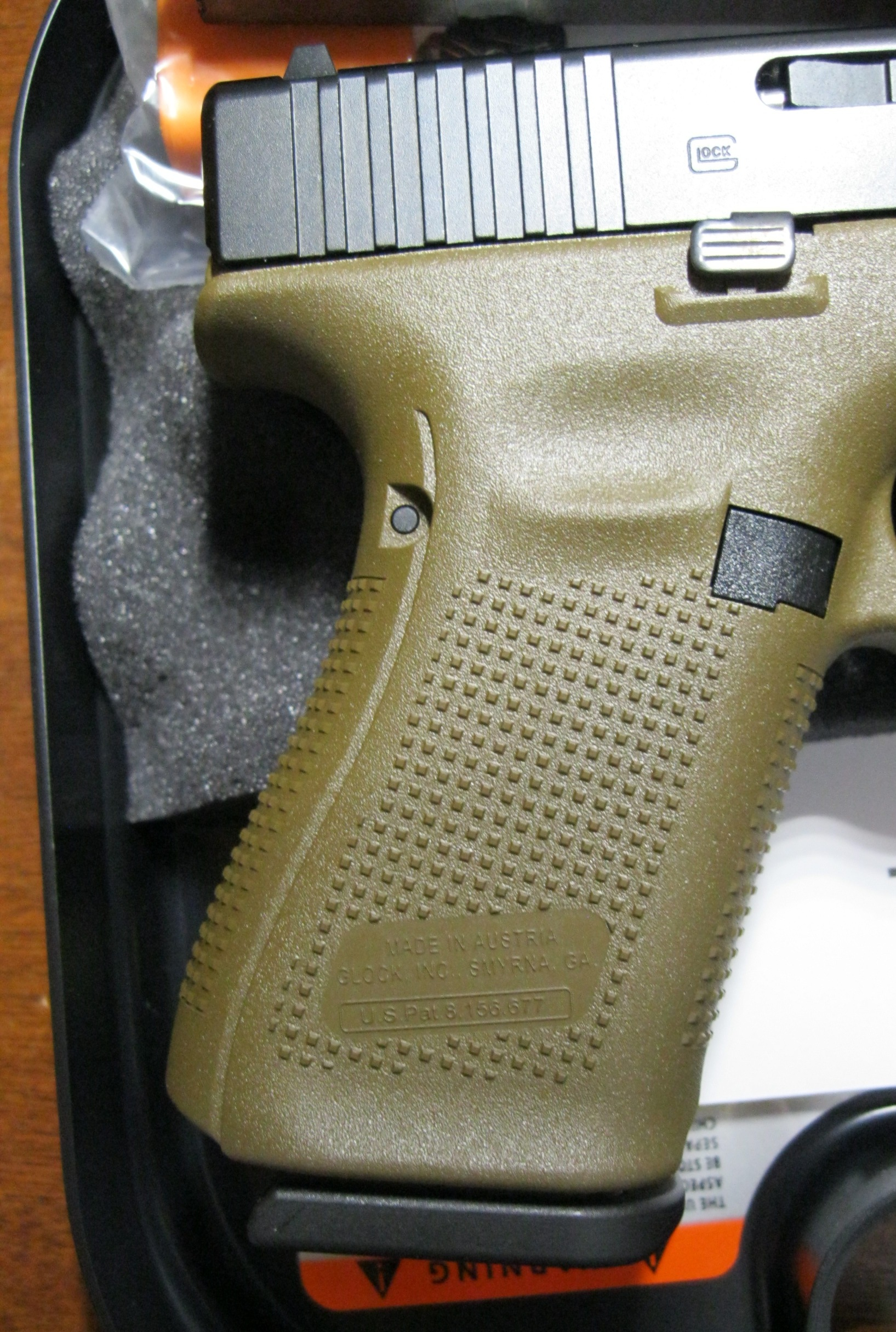 Glock 19 gen5 FDE 4″ 9mm 3mags PA1950203DE NEW – Ellis