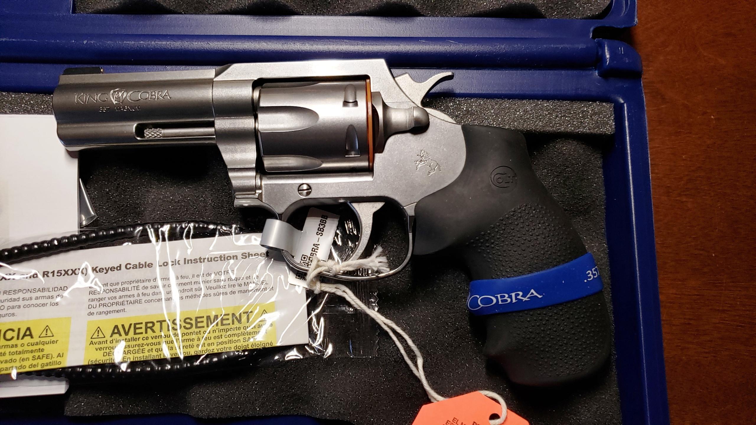 Colt King Cobra 3″ Stainless 357mag KCOBRA-SB3BB NEW – Ellis County