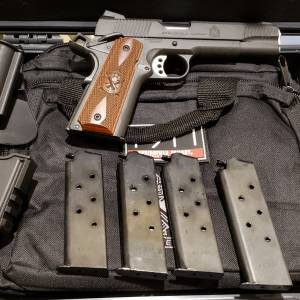 Springfield 1911 loaded Parkerized 45acp GEAR-UP