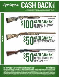Remington Versamax rebate