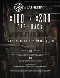 WEatherby 200 rebate