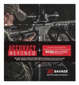 Savage Rifle rebate 9-30-19