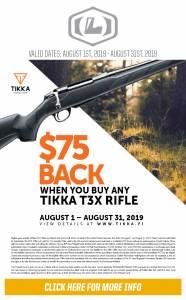 Tikka T3X rifle rebate