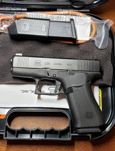 Glock blue label 43X GNS black 9mm