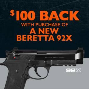 Beretta 92X rebate 3-30-20