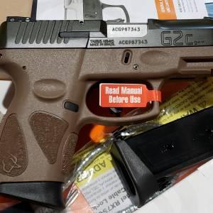 "Taurus G2C Brown-Green 3.2"" 1-G2C93B-12B 9mm"