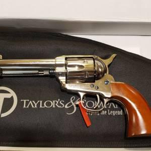 "Taylor/Uberti 1873 Cattleman nickel 4.75"" 555124 357mag"
