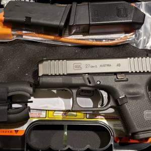 Glock 27 gen5 Black 40s&w PA275S203