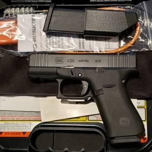 Glock 43X Black 9mm PX4350201FRMOS