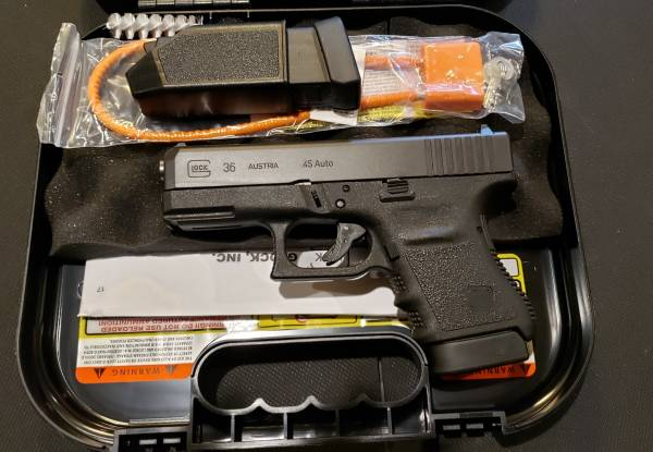 Glock 36 gen3 Black 45acp PI3650201FGR