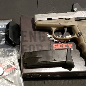 SCCY CPX1 FDE/SS Red Dot & Safety 9mm CPX-2TTDERD
