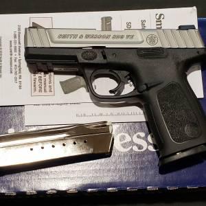 "S&W SD9VE 4"" bitone 9mm 223900"