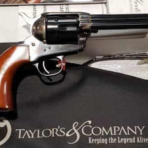 "Taylors / Uberti 1873 Cattleman Gunfighter 4.75"" Tuned 45lc 555149DE"